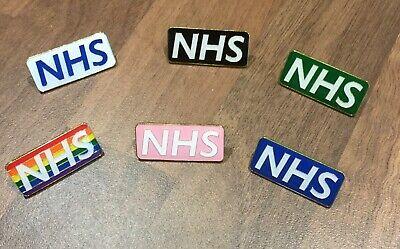 NHS STAFF ENAMEL PIN BADGE - Rainbow , Blue , White , Black . Pink , Green 3