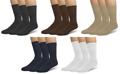 Classic Men's Diabetic Non-Binding Comfort Top Dress Socks 3-Pack 2