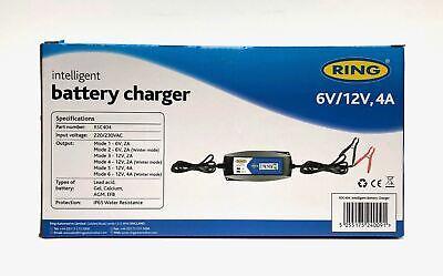 Ring RSC404 Intelligent Smart Battery Maintenance Charger 12V, 6V Car Motorcycle 4
