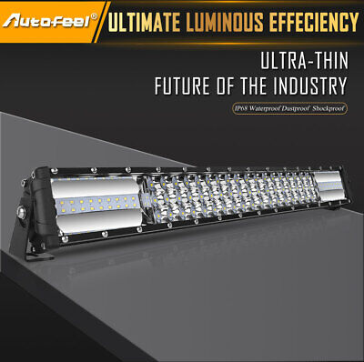 22Inch Tri-Rows 90PCS LED Light Bar Spot Flood Combo Work Driving Offroad Truck 2