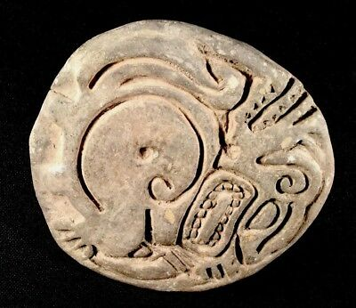 Authentic Large Pre Columbian Ancient Art Stamp Or Seal 7