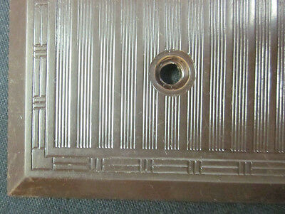 Vintage Ribbed Lines Brown Bakelite Hubbell  P&S Switch Plate Cover Dashed Deco 4