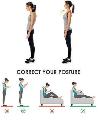 Corrector de Postura espalda unisex,correa ajustable 70 a 110 cm,reduce el dolor 6