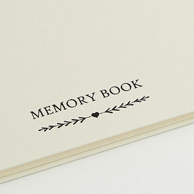A5 Luxury Ivory Memory Book & 2 Signs Set - Funeral, Condolence Book, Memorial 7
