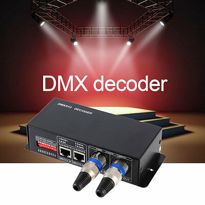 DMX512 4CH*8A DECODER LED Controller Dimmer Driver RGBW LED Strip ...