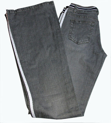 Damen Jeanshose Hose mit Stretchbund Blue Miss Hüftjeans Gr. 36 38 grau