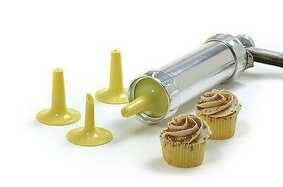 Norpro 3300 Cookie Icing Press With 20 Dies Cookie Gun and 4 Icing Tips