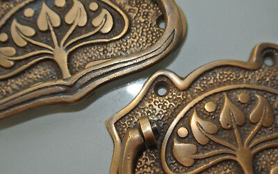 2 large DECO cabinet handles solid brass furniture antiques age old style 112 mm 2