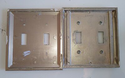 6 Nickel Art Deco & 5 Brass Copper WallPlate Covers Push Button & Toggle 6