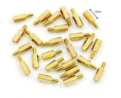 25pc 8mm M3 Male Female Brass Hex Standoff Spacer Screw Separator Stand Off PCB