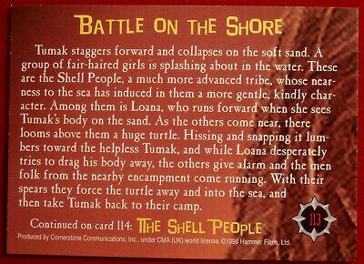 HAMMER HORROR - Series 2 - Card #113 - One Million Years BC - Raquel Welch 2