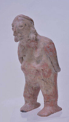"Large Fine Pre-Columbian Pottery Figure  9 1/2"" x 5"" x 3"" 8"