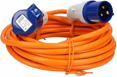Caravan Extension Lead Electric Hook Up Cable 4 Way UK All Size 5-25m 9