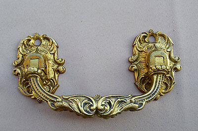 French Antique Pair of Piano Handles by L. Pinet - Antique Bronze Hardware 2