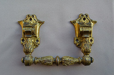 French Victorian Large Pair of Piano Handles - Paris Bronze Hardware Furniture 2