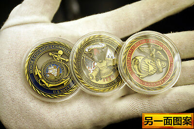 Core Values MARINE CORPS HONOR COURAGE COMMITMENT CHALLENGE COIN 3X U.S Army