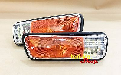 1 PAIR DATSUN 1300 521 Pickup Truck Front Parking Turn Signal Light Lamp NEW