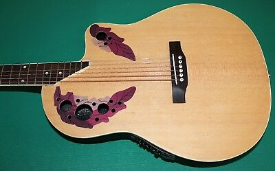 "Chitarra Eq New Orleans Natural Matt No Ovation Style Eq4B 40"" Custodia Omaggio 6"