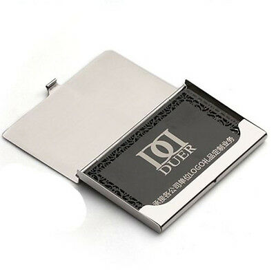 1pcs stainless steel pocket name credit id business card holder box 2 of 11 1pcs stainless steel pocket name credit id business card holder box case new colourmoves Image collections