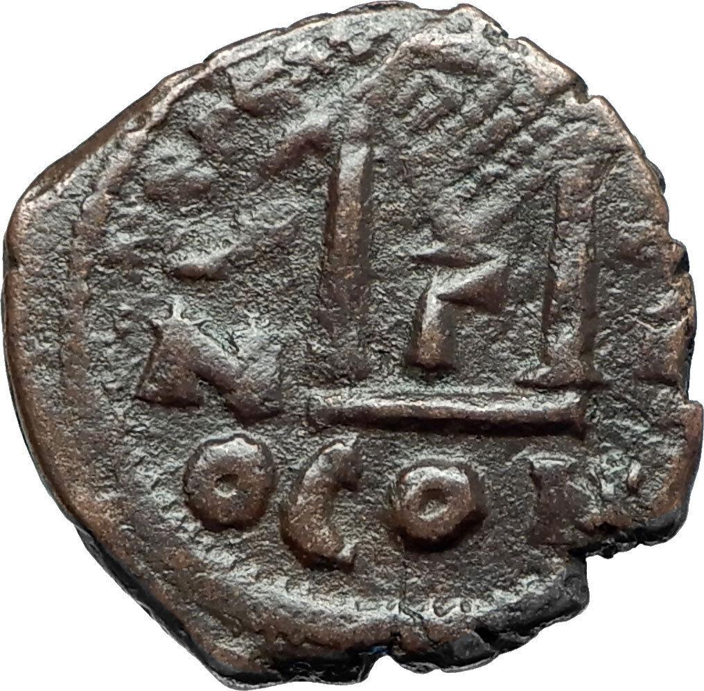 HERACLIUS & Son H Constantine Genuine 610AD Ancient Byzantine Follis Coin i66096 2