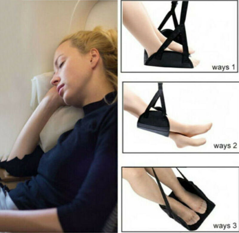 Comfy Hanger Travel Airplane Footrest Hammock Made with Premium Memory Foam Foot 2