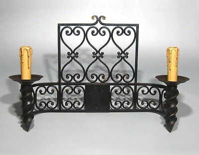"Large Vintage French Wrought Iron Sconce, ""Chateau"" Style, 19 x 13 inches 2"