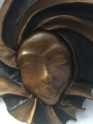 Modern Italy Decoration Leather Woman's Face 2