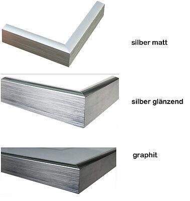 Bilderrahmen Aluminium 13x18 Silber Glanzend Schmal Echtglas