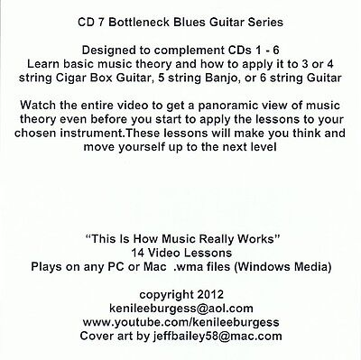 OPEN TUNING MUSIC Theory / Practice CD 7 video guitar tutorial keni lee