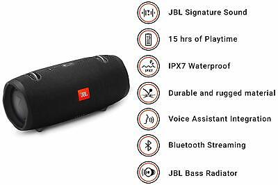 New JBL Xtreme 2 Portable Bluetooth Wireless Waterproof Speaker - (Black) 3