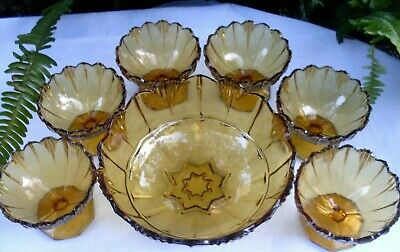 RARE Antique 1920's SOWERBY England HUMPHREY AMBER BOWLS SET VG Collectable Aust 3