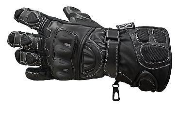 Polar Force Leather Waterproof Thermal Winter Motorcycle Motorbike Gloves 2