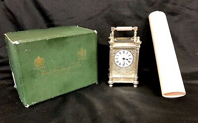 Limited Edition Sterling Silver Vintage Carriage Clock Charles Frodsham London 2