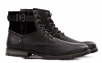 c9f9a40ff544d ... Stivali Stivaletti Scarpe Uomo Pelle PU Polacchini Anfibi Sneakers  Camperos T45 7