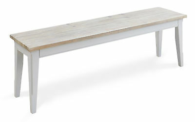 Signature Solid Wood Dining Bench Large Grey Limed Oak Top 2