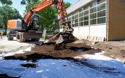 25m Unkrautvlies Gartenvlies Bodengewebe Geotextil Drainage 150g Paddockplatten