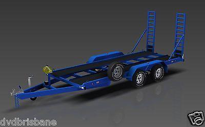 Trailer Plans- 3500KG FLATBED CAR TRAILER PLANS- 4800x1760mm- PRINTED HARDCOPY 2
