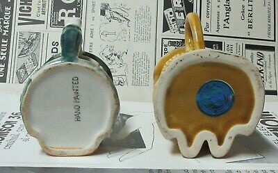 Vintage Lot of 2 Small Toby Style Jugs 3
