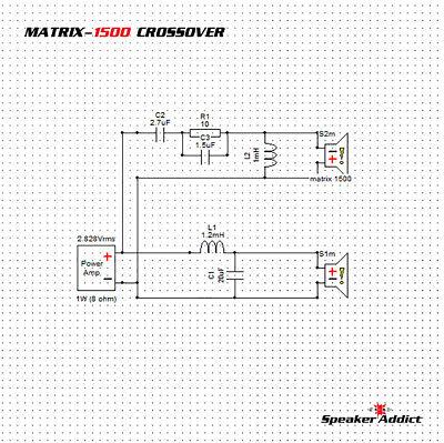 PAIR MATRIX 1500 2Way 1.8Khz Pro Speaker Passive Crossover w HF Driver horn EQ 4