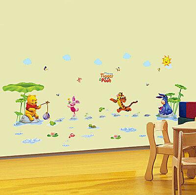 CARTOON WINNIE the pooh Wall Sticker For Kids Baby Room Nursery ...