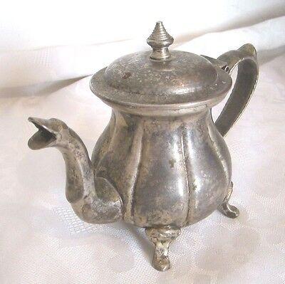 Antique Vintage Art Deco Silver Islamic Arabic Tea Coffee Pot Signed Hand Design 11