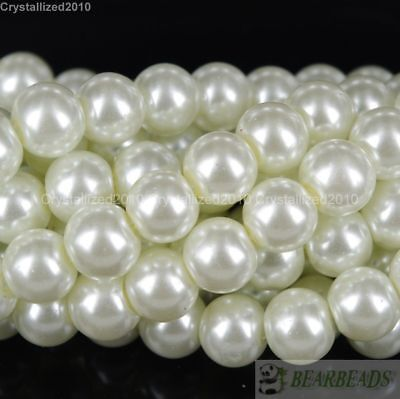 100pcs Top Quality Czech Glass Pearl Round Beads 3mm 4mm 6mm 8mm 10mm 12mm 14mm 3