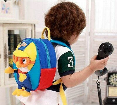 "PORORO 3D Backpack Baby Kids Character Bag with Safety Harness /""US Seller/"""