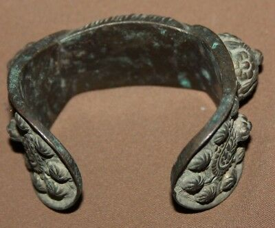 Antique Greek Orthodox medieval bronze fertility bracelet 3