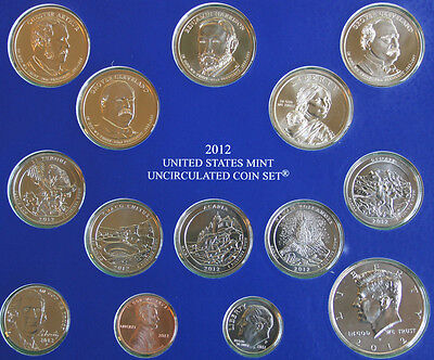 2012 ANNUAL US Mint Uncirculated Coin Set 28 P and D Minted Coins with COA 4