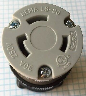High Quality NEMA L6-30R Female Locking connector, UL listed 4