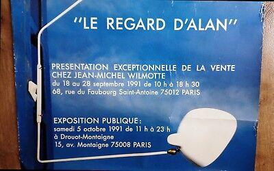 Original LE REGARD D'ALAN Poster 1991 French Modernist Design Serge MOUILLE RARE 3