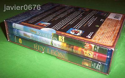 El Rey Leon La Trilogia En Blu-Ray Pack Nuevo Y Precintado Disney 4