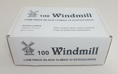 Windmill stockcards for stamps - Retail Boxed - for approvals etc 2 or 3 strips 2