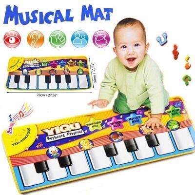 Musical Music Kid Piano Play Baby Mat Animal Educational Soft Kick Toy US 3